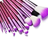 Glow 12 Make up Brushes Set in Purple Case