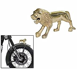 Speedwav Brass Standing Lion Bike Front Fender Decorative-Royal Enfield-U