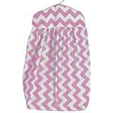 Baby Doll Bedding Chevron Dot Diaper Stacker, Pink