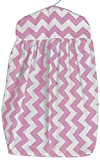 Baby Doll Chevron Dot Diaper Stacker, Pink