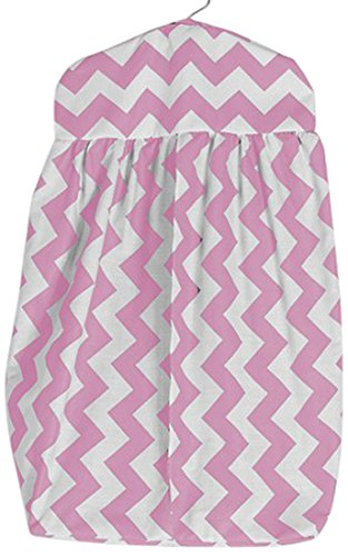 Baby Doll Chevron Dot Diaper Stacker, Pink
