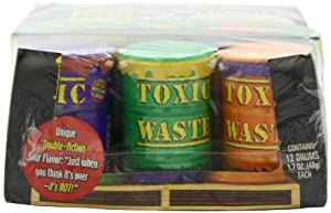 Toxic Waste Special Edition Colored Drums, Candy, 1.7 Ounce (Pack of 12)