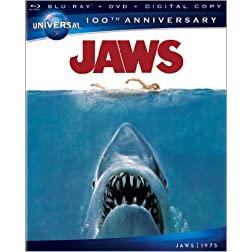 Jaws (Universal 100th Anniversary) [Blu-ray + DVD + Digital Copy + UltraViolet]