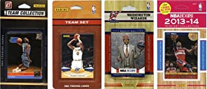 NBA Washington Wizards 4 Different Licensed Trading Card Team Sets by C&I Collectables