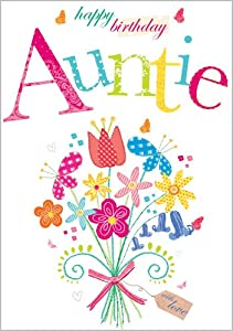 Auntie happy birthday card amazon co uk office products