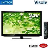 ユニテク 24V型 液晶テレビ Visole LCH2407V 外付けHDD録画対応