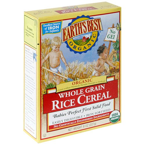 Earth's Best Organic Whole Grain Rice Cereal, 12 - 8-Ounce Boxes