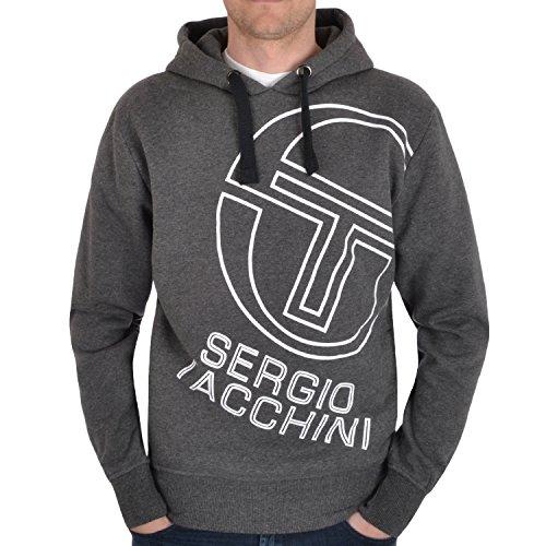 Sergio Tacchini -  Felpa con cappuccio  - Uomo grigio grigio