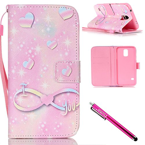 Galaxy S5 mini Case, Firefish [Kickstand] [Shock Absorbent] Double Protective Case Flip Folio Slim Magnetic Cover with Wrist Strap for Samsung Galaxy S5 mini (SM-G800)-Love (Opi Nail Polish Vintage compare prices)