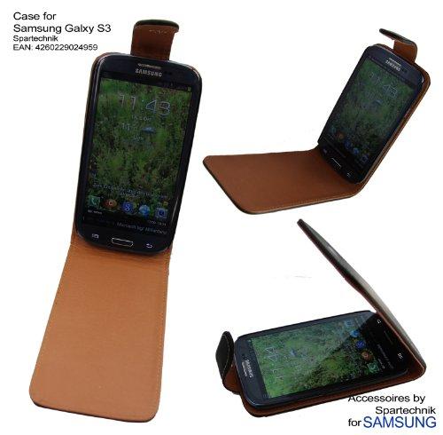Case für Samsung S 3 Galaxy S3 GT-I9300 von Spartechnik: Ledertasche mit Gürtelclip - Leather Case - Tasche für Samsung S 3 schwarz
