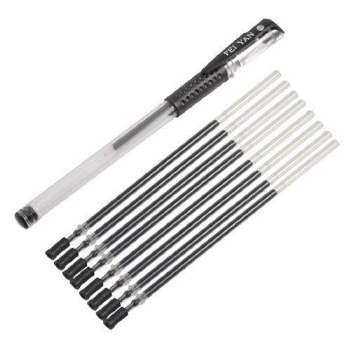 Grip antidérapant encre 0,5 mm Noir Lot de 8 stylo-bille avec recharge