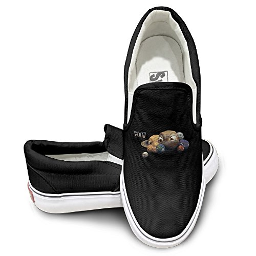 [YEH5O Pluto Slip On Shoes Unisex Sneakers Black Size 38] (Boxtroll Shoe Costume)