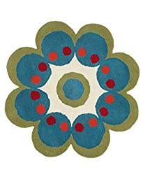 Dynamic Rugs Flower 3X3 1707-500 Turquoise