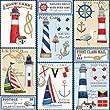 Nautical Gift Wrap Roll 24\
