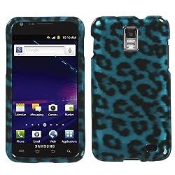 Samsung Skyrocket Protector Case Phone Cover - Cyan Leopard Skin