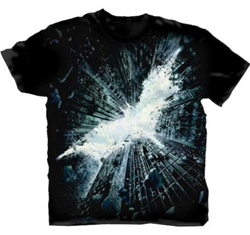 Batman: The Dark Knight Rises Poster Logo Men's T-Shirt