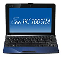 ASUS Eee PC 1005HA-PU1X-BU 10.1-Inch Blue Netbook - 10.5 Hour Battery Life