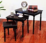 Frenchi Home Furnishing 3 piece Nesting Table in Cherry Finish
