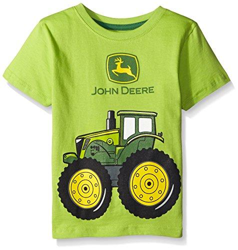 John Deere Little Boys 39 Big Tractor T Shirt Lime Green