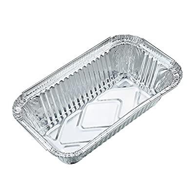 10pcs Square Disposable Aluminum Foil Pans Food Storage Containers Bakeware Pans with Lids-Crystallove