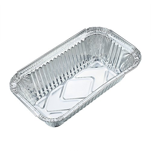 Crystallove 10pcs Square Foil Containers Food Storage of Bakeware Pans with Lids (Size 3) (Aluminum Loaf Pan With Lid compare prices)