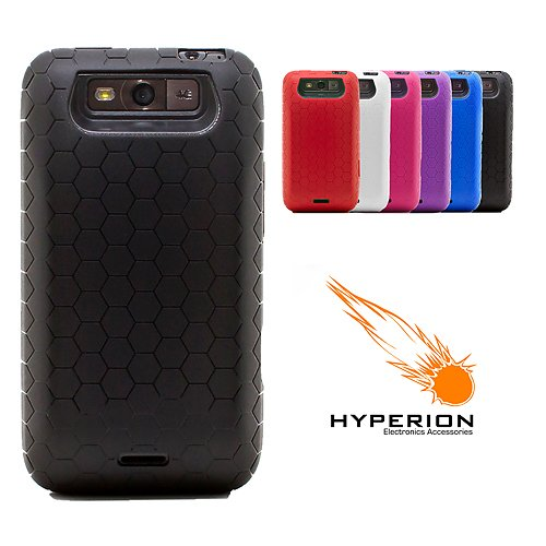 Hyperion MetroPCS LG Connect 4G MS840 Extended Battery HoneyComb TPU Case -Black