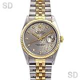[ロレックス]ROLEX腕時計 デイトジャスト グレープリントコンピューター/ダイヤ Ref:16233G メンズ [中古] [並行輸入品]