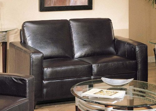 Buy Low Price Acme Loveseat Sofa Contemporary Style Espresso Bycast Leather (VF_AM5741)