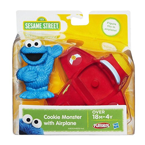 Playskool Sesame Street Cookie Monster with Airplane