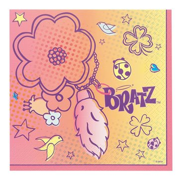 Bratz 'Lucky and Charmed' Large Napkins (16ct)