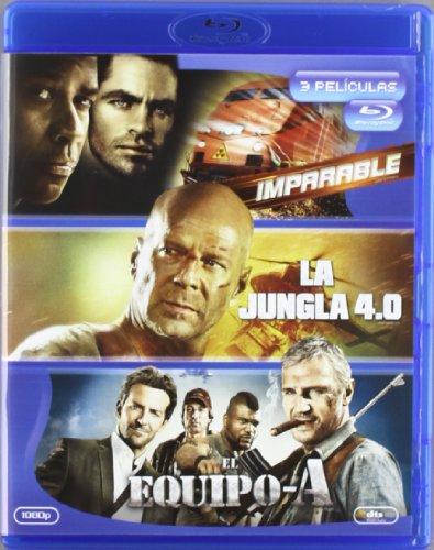 Imparable + Jungla 4.0 + Equipo A [Blu-ray]
