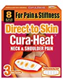 Cura Heat Neck & Shoulder Pain Direct to Skin - 2 x 3-Pack
