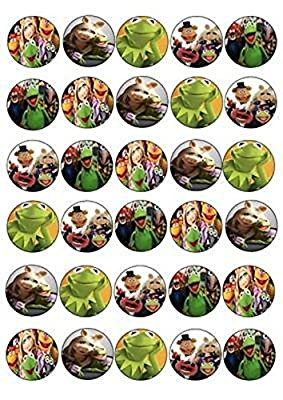 30 X The Muppets Kermit Mixed Images Edible Cupcake Toppers 166