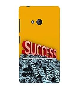 printtech Cool Quotes Success Back Case Cover for Nokia Lumia 540::Microsoft Lumia 540