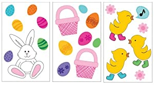 Impact Innovations Gel Cling Window Decorations, Bunnies/Chicks/Easter Baskets, 3-Pack Assortment from Impact Innovations