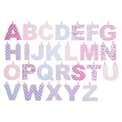 JoJo Maman Bebe Fabric Letters, Pastel F - 1