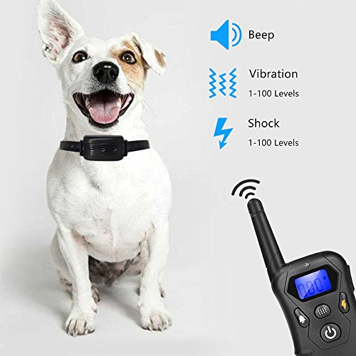Waterproof 330 Yard  Dog Shock Training Collar with Remote 4 level