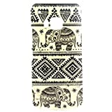HTC One M9 Case, Sophia Shop Premium Slim Fit Flexible TPU Case for HTC One M9, Ultra Slim TPU Soft Rubber Cover Case, Scratchproof, Shock Absorbent, Shatterproof, Anti-slip [Portrait Style] [Tribal Pattern] [Flower Pattern] [Fashion Pattern] [Text Pattern] [Totem Pattern] Protective Skin Case Fashion Style Colorful Painted TPU Case Soft Rubber Back Cover Protector Skin (Elephant)