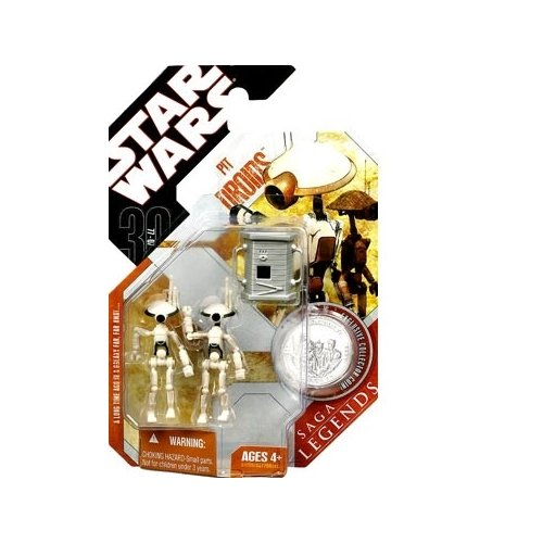 Star Wars Saga Legends Pit Droids with Coin - 1