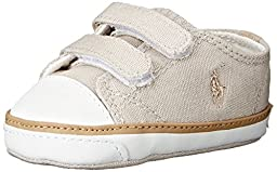 Ralph Lauren Layette Carson II EZ Velcro Athletic (Infant/Toddler), Sand Khaki, 0 M US Infant