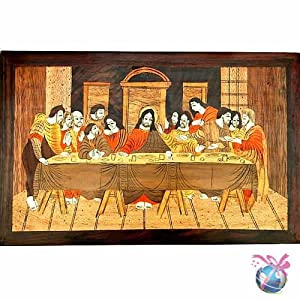 Jesus & His Disciples: Wooden Inlay Paintings