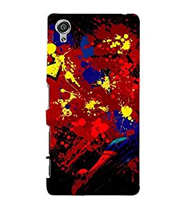 MULTICOLOURED MODERN ART SPRAY PIC 3D Hard Polycarbonate Designer Back Case Cover for Sony Xperia X::Sony Xperia X Dual F5122 with dual-SIM card slots