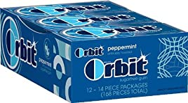 Orbit Peppermint Sugarfree Gum, 14-Piece Packs (Pack of 24)