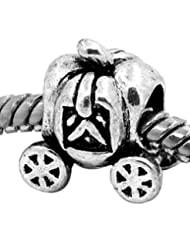 Fairytale Cinderella Pumpkin Carriage Princess Charm Fit Pandora Style Bracelets Ladies Womens Girls Jewellery