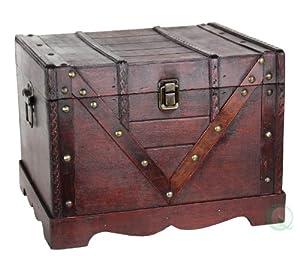 Wooden Treasure Box, Old Style Treasure Chest