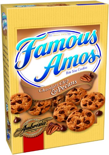 Keebler Famous Amos Chocolate Chip and Pecans Cookies, 12.4-Ounces (Pack of 6)
