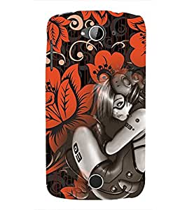 EPICCASE Robot Girl Mobile Back Case Cover For Acer Liquid Z530 (Designer Case)