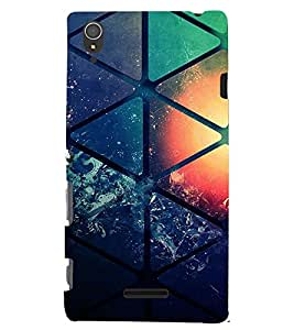 PRINTVISA Abstract Pattern Case Cover for Sony Xperia T3