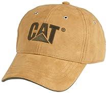 Caterpillar Mens Trademark Microsuede Cap, Duck Brown, One Size