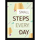 Motivational Posters For Office And Study Room - Home And Wall Decor - Small Steps Each Day Quote